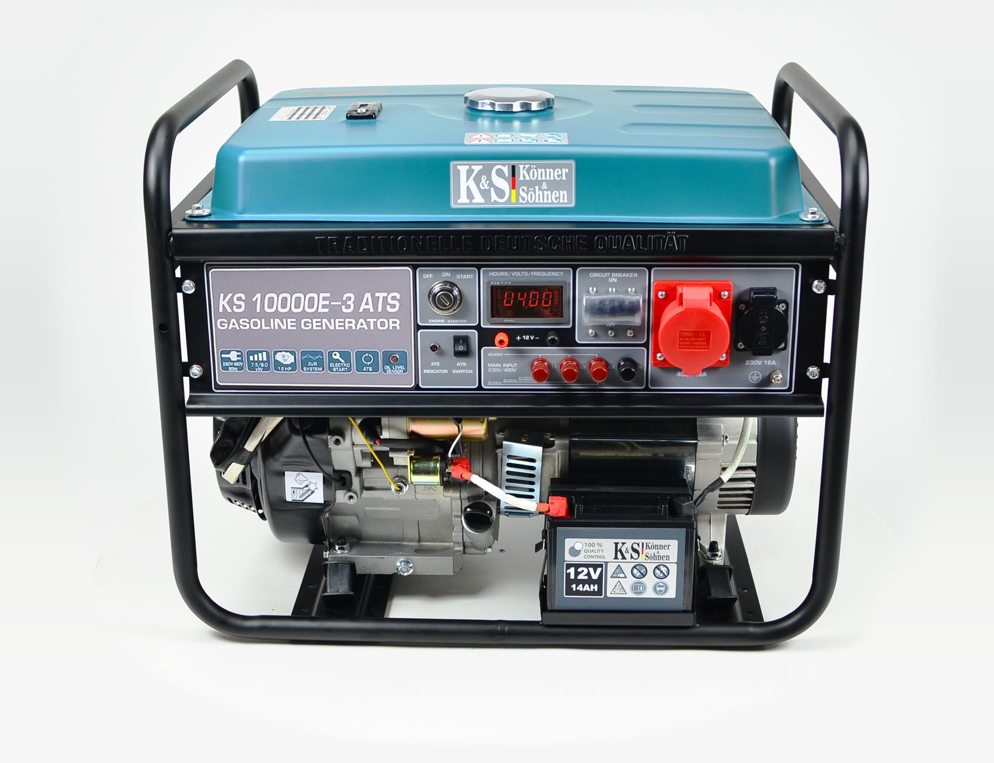 K&S 8 kVA Benzin KS10000E-3-ATS Stromaggregat  inkl. ATS