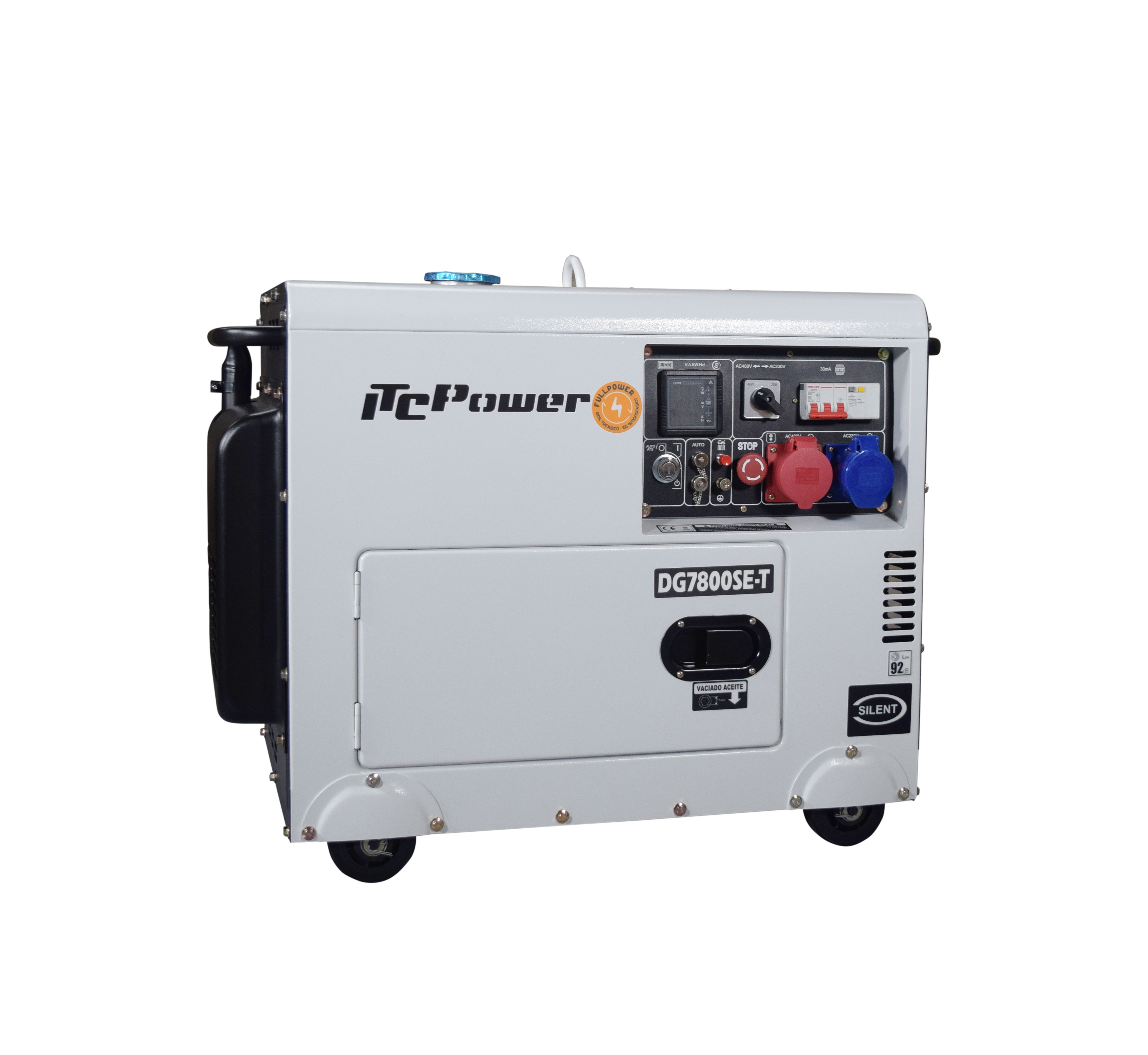 VORVERKAUF!!! ITC POWER Full Power 8 kVA Diesel DG7800SE-T 230&400 Stromaggregat