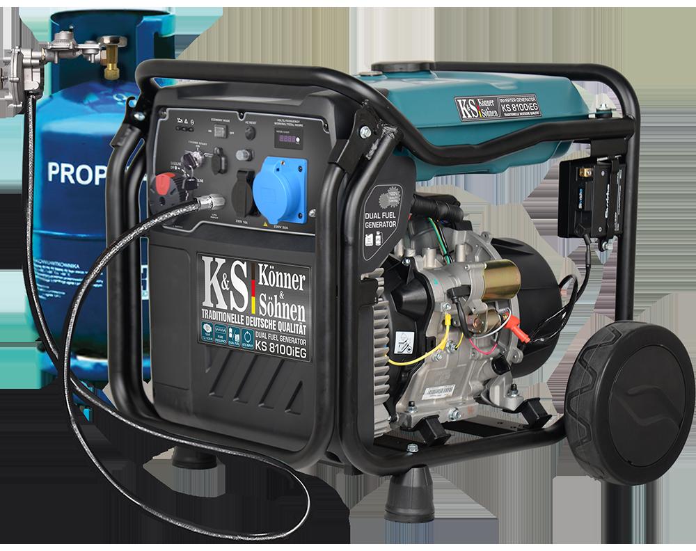 VORVERKAUF!!! K&S Inverter 8.000 Watt Gas & Benzin KS8100iEG Stromaggregat mit E-Starter