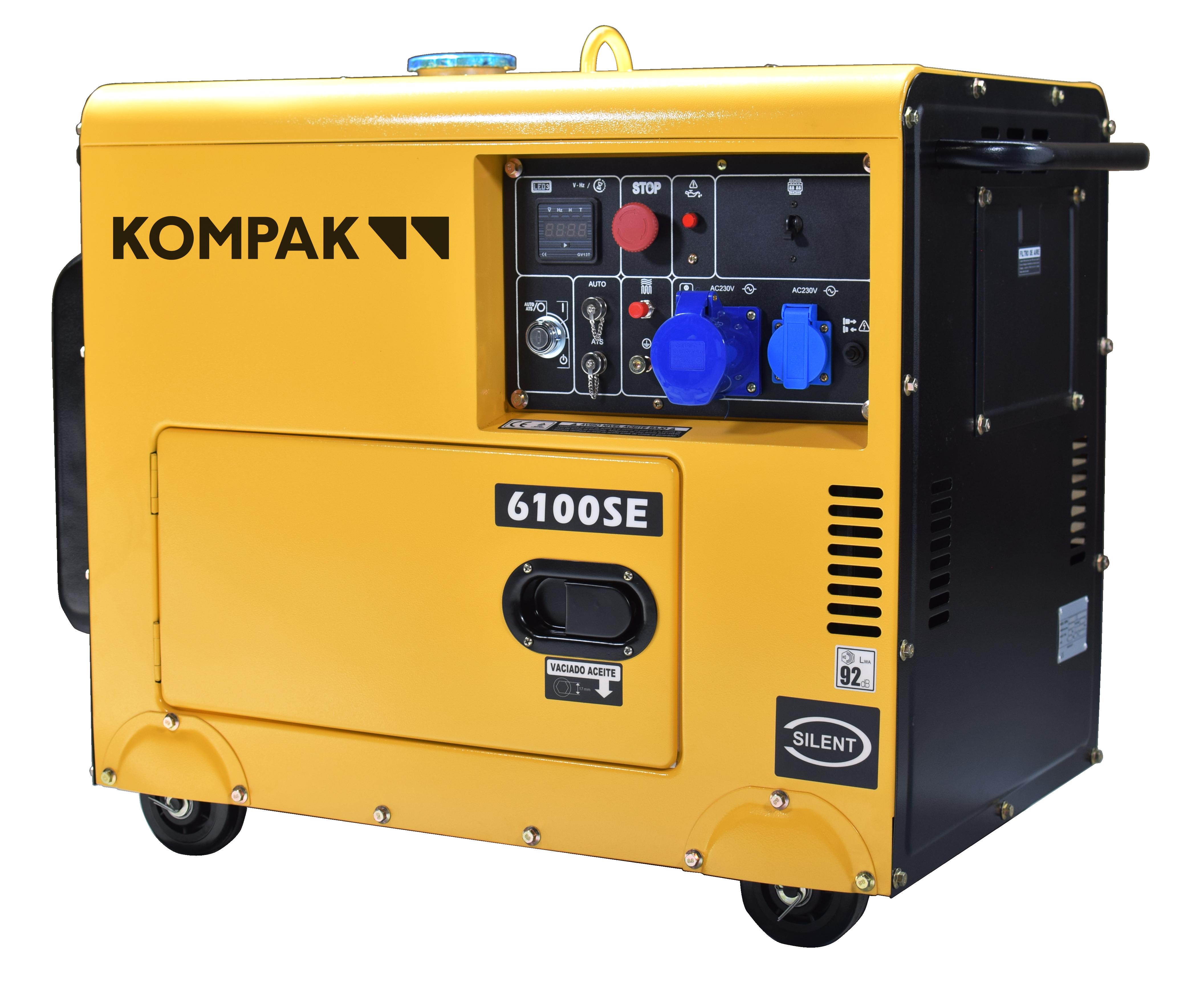 KOMPAK 5500 Watt Diesel 6100SE Stromaggregat