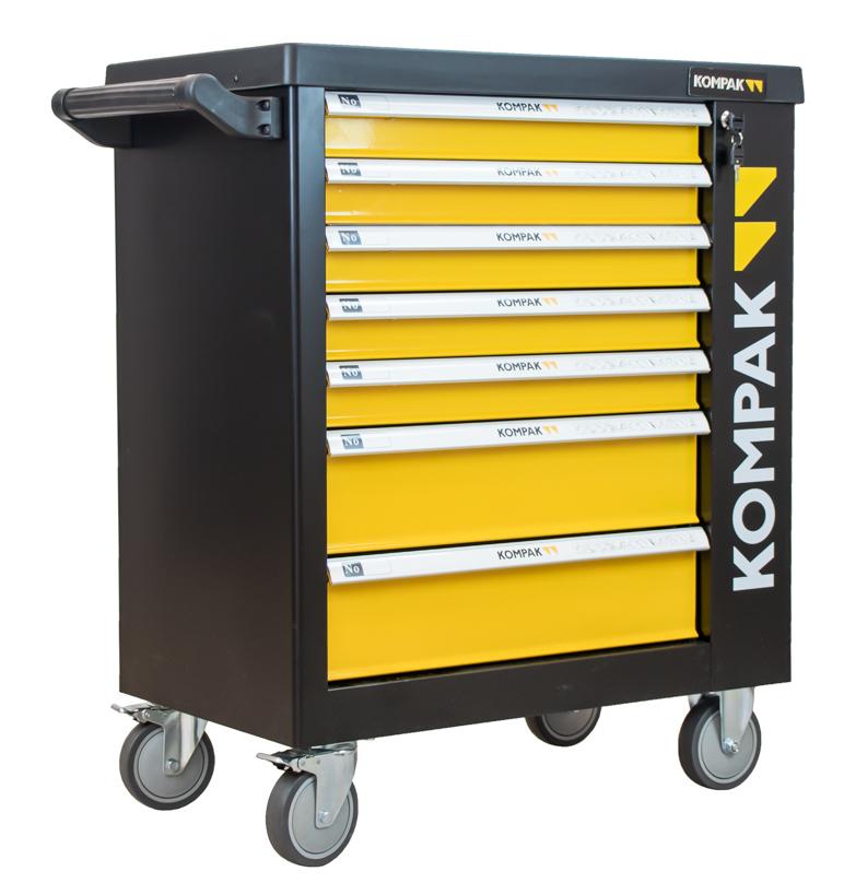 Werkstattwagen mit 252 Teilen, Werkzeugwagen Kompak LZ01, Werkzeug mit Top Qualität