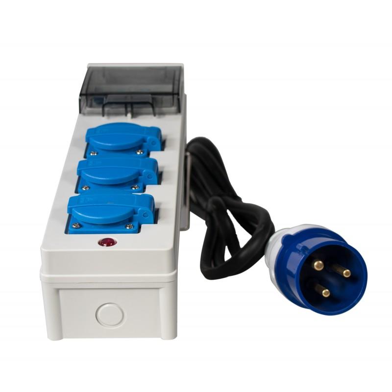 Adapter Verteiler 230V 32A mit Kabel für ITC POWER Hyundai Kompak Energy Stromaggregate