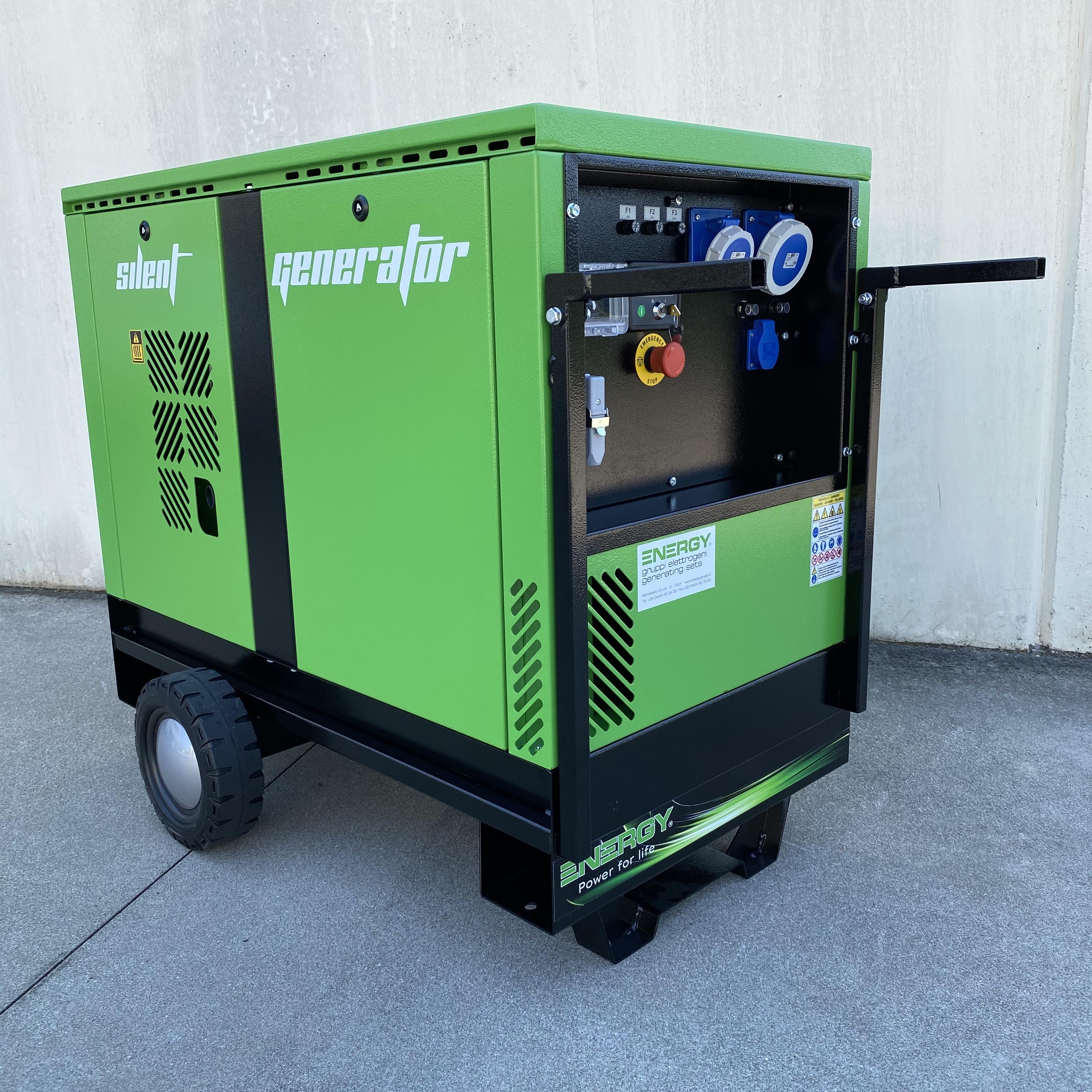 Räder Set für Energy Stromaggregate 7 & 12kVA