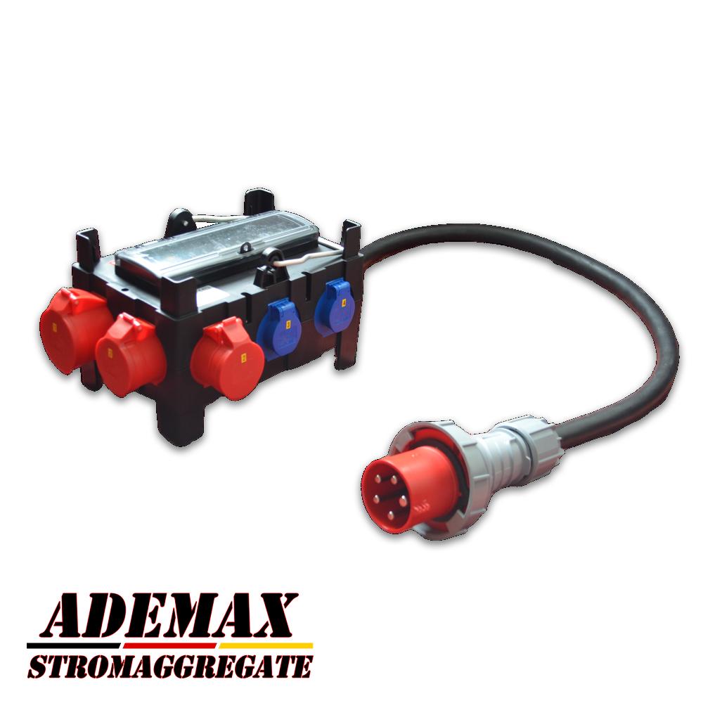 Adapter Verteiler 400V 63A für ITC Power Hyundai Kompak Energy Fogo etc. Stromaggregate