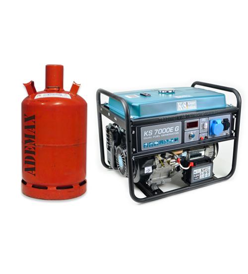 VORVERKAUF!!! K&S Gas- und Benzin-Stromaggregat 5.500 Watt KS7000EG Dual Fuel