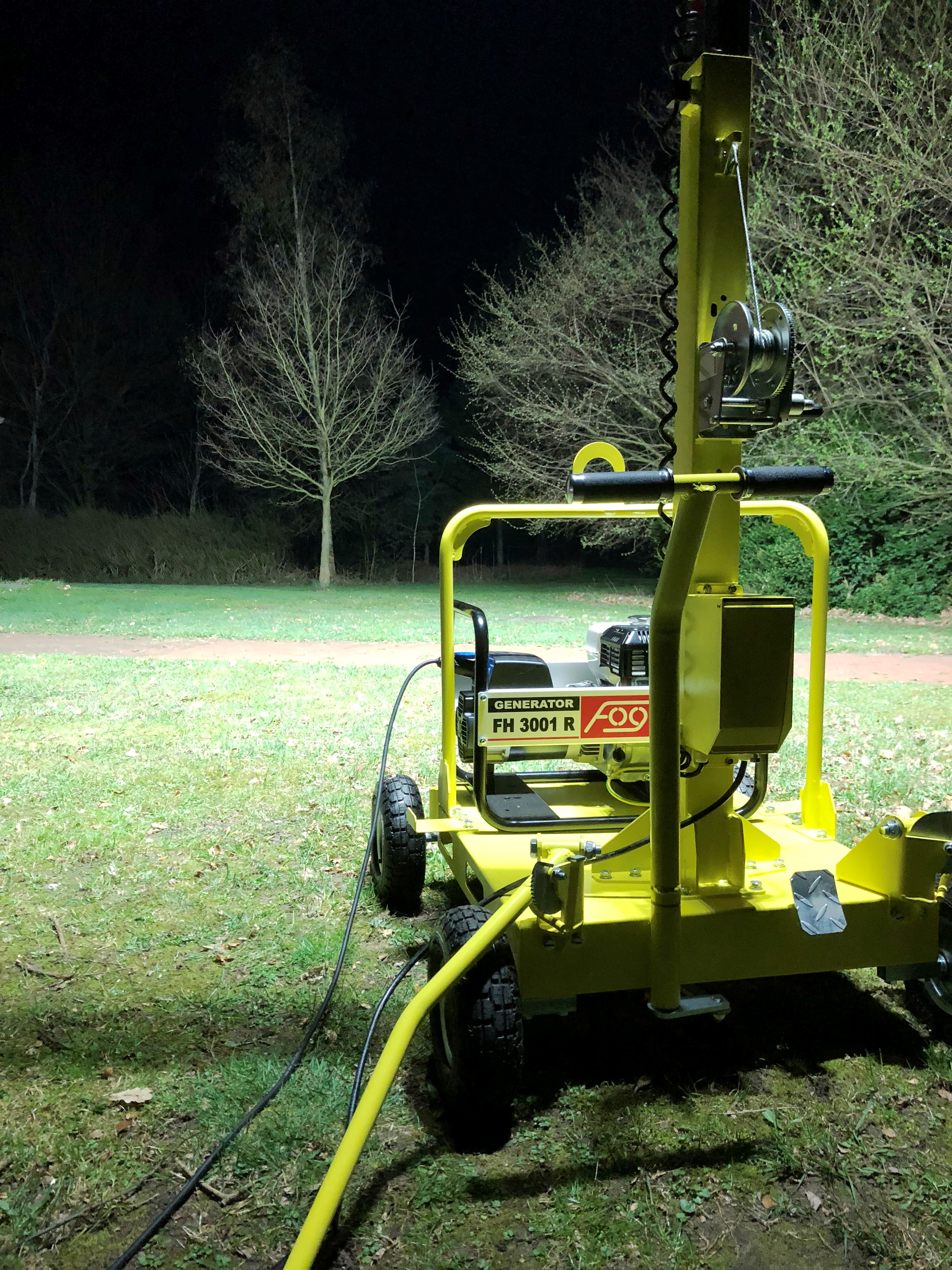 LICHTMAST LT600-LED KOMPAK für 2.500 m² Baustellenbeleuchtung