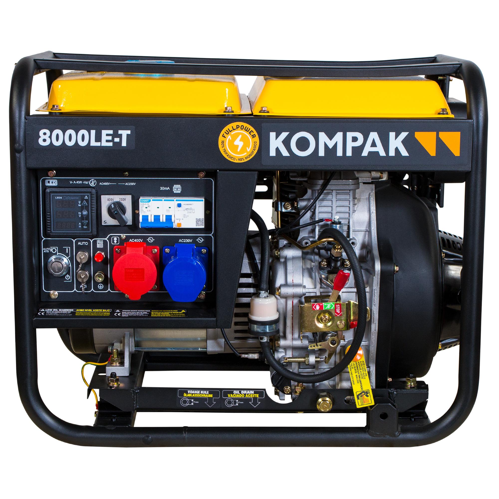 VORVERKAUF!!! PRO-KOMPAK Full Power 8kVA Diesel 8000LE-T 230&400 V Stromaggregat