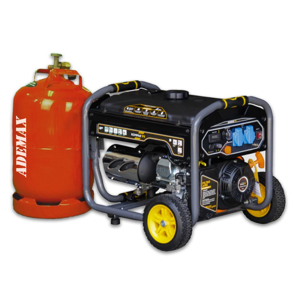 VORVERKAUF!!! Gas & Benzin KOMPAK Stromerzeuger Stromaggregat 3.300 Watt K4000S-DF