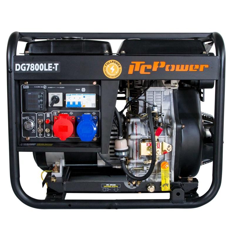 VORVERKAUF!!! ITC POWER Full Power 8 kVA Diesel DG7800LE-T Stromaggregat 230&400 V