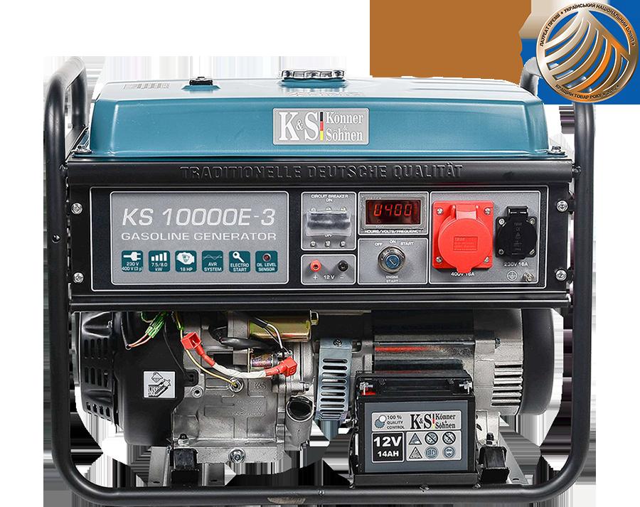 K&S 8 kVA Benzin KS10000E-3 Stromaggregat