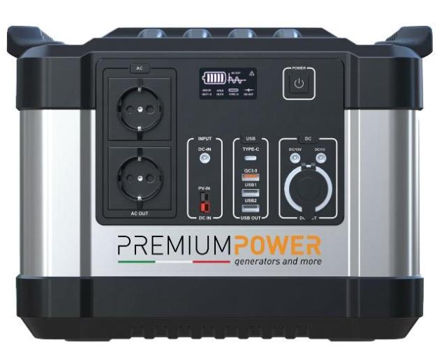 Premium Power PB1000 Power Station 1000W / 1100Wh