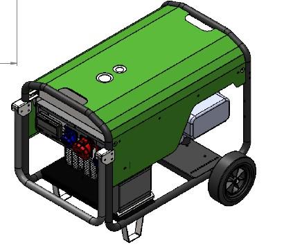 Räder Set für Energy Stromaggregate EY16TBE Ademax