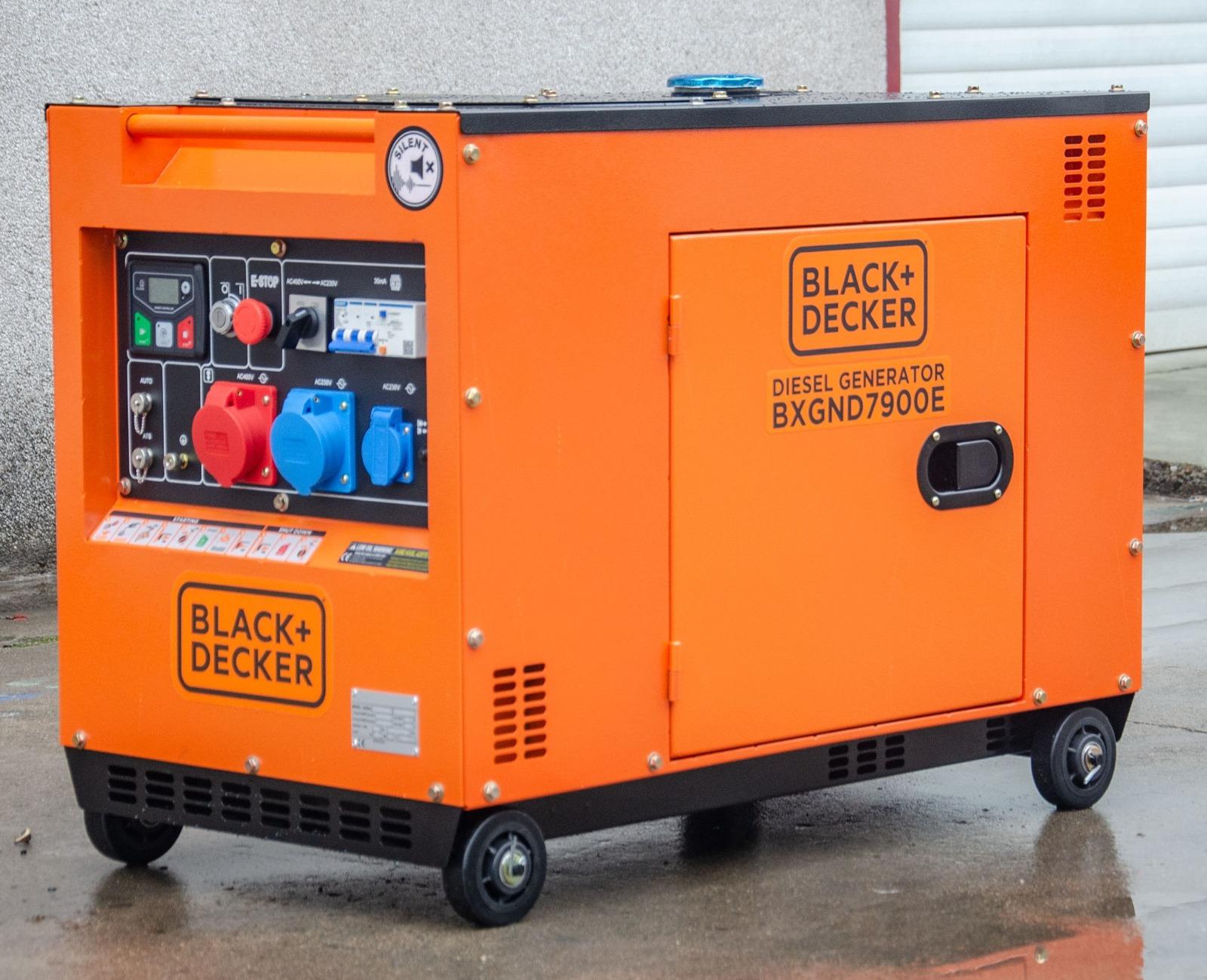 Black + Decker Full Power 8 kVA  Diesel  BXGND7900E 230&400 V Stromaggregat