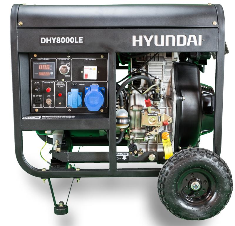 VORVERKAUF!!! HYUNDAI 6500 Watt Diesel DHY8500LEK Stromaggregat