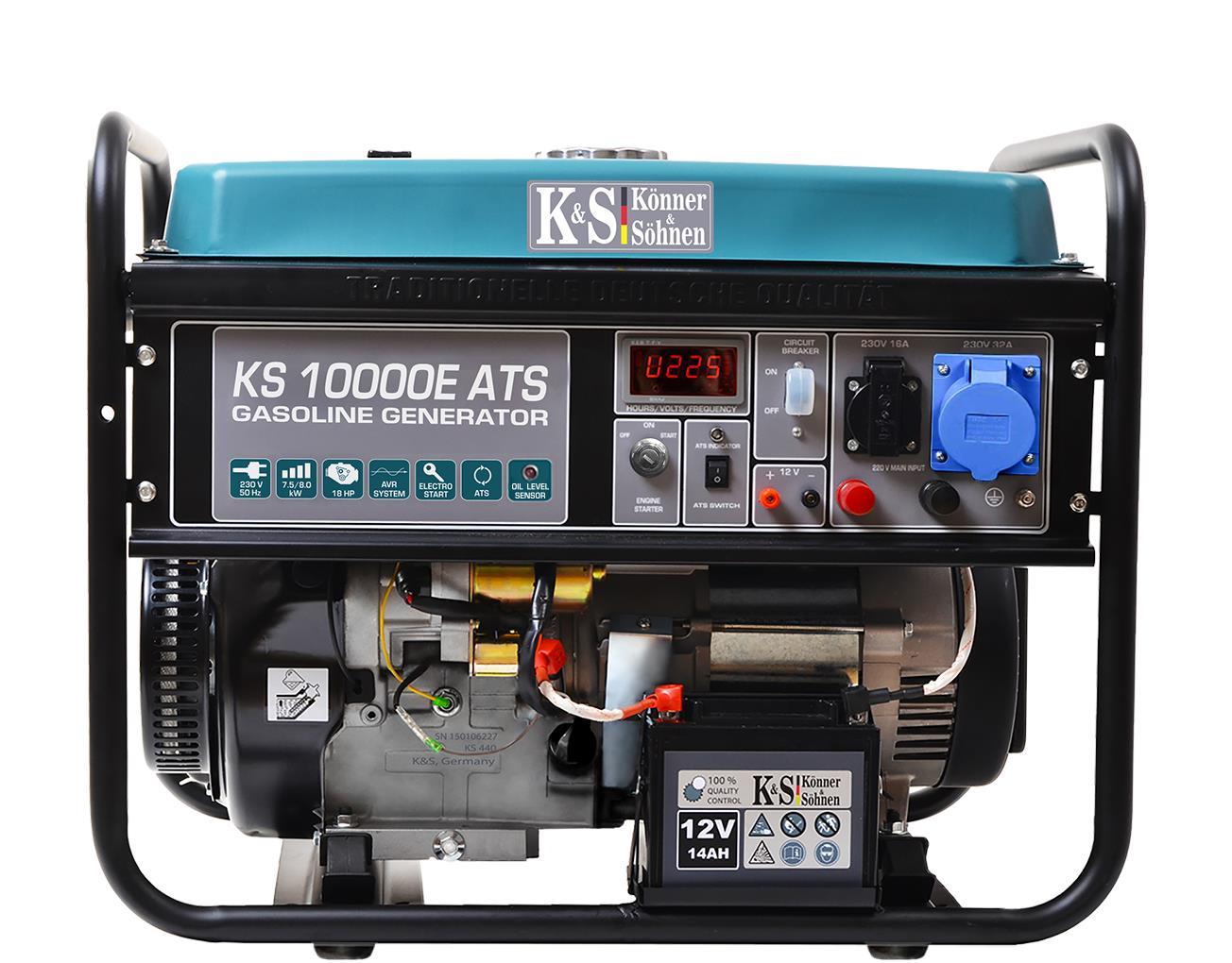 K&S 8.000 Watt Benzin KS10000E-ATS Stromaggregat  inkl. ATS