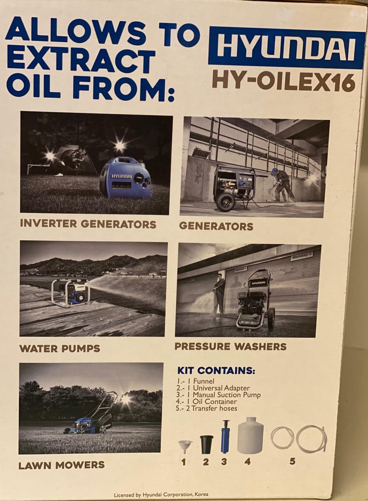 HYUNDAI Öl-Ablas-Pumpe Manuell