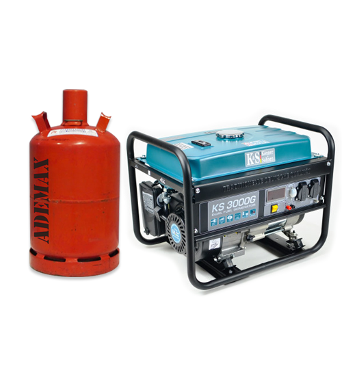 VORVERKAUF!!! K&S Gas- und Benzin-Stromaggregat 3.000 Watt KS3000G Dual Fuel