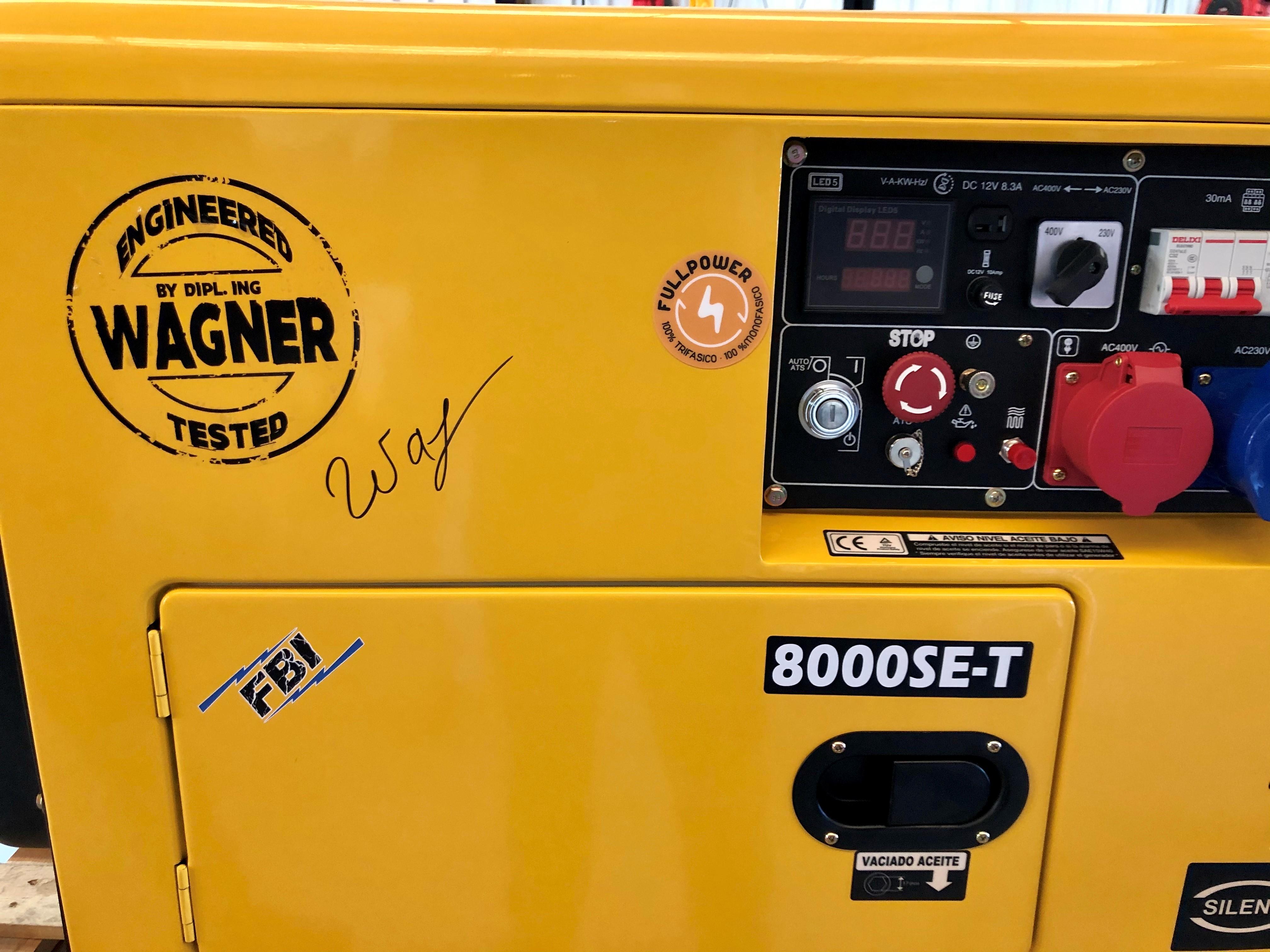 WAGNER Full Power 8 kVA Diesel KW8000SE-T Stromaggregat 230&400V