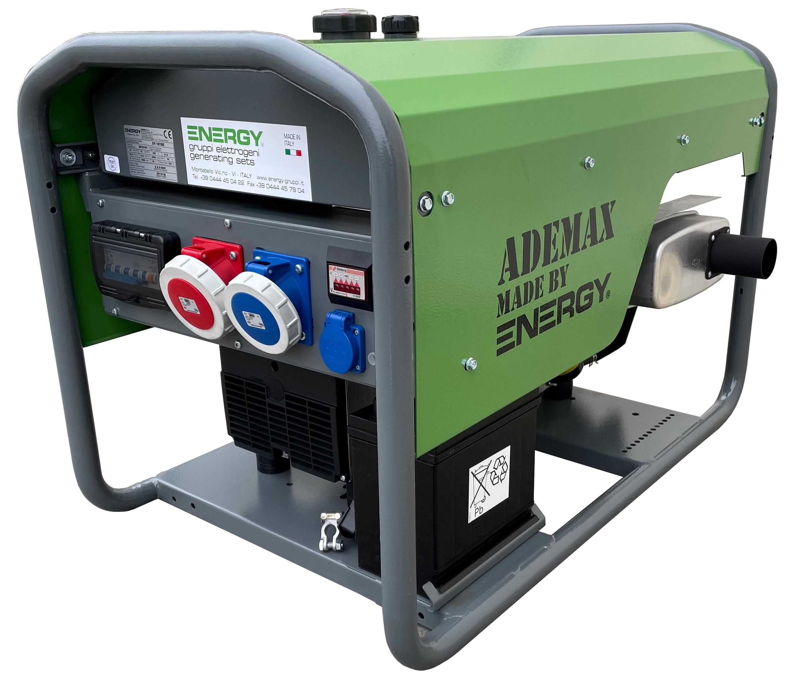 Energy 17,6 kVA Stromaggregat Teil-Schallschutz AVR 400 V EY16TBE Ademax