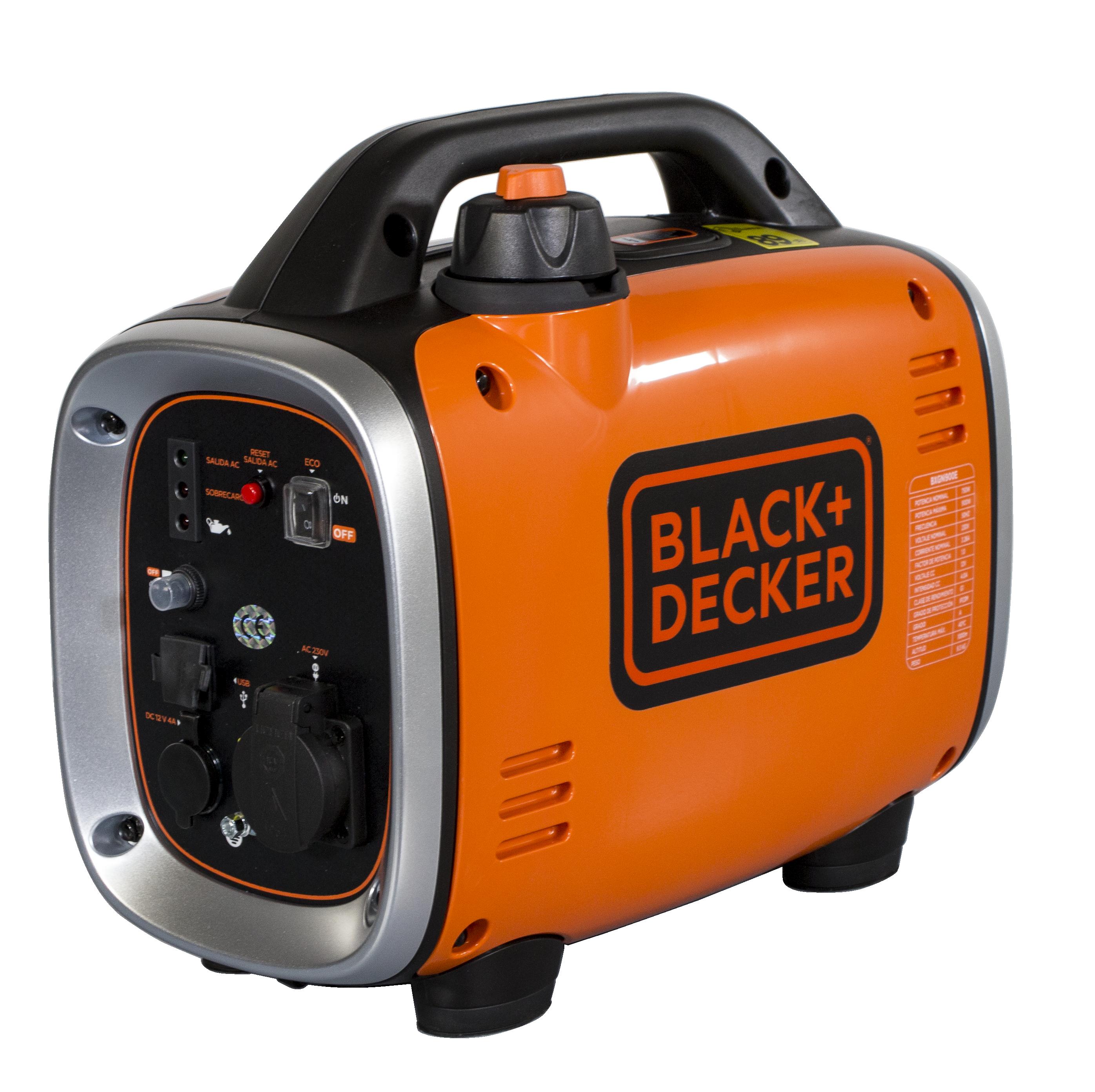 Black + Decker  Inverter 900 Watt Benzin BXGNi900E Stromaggregat