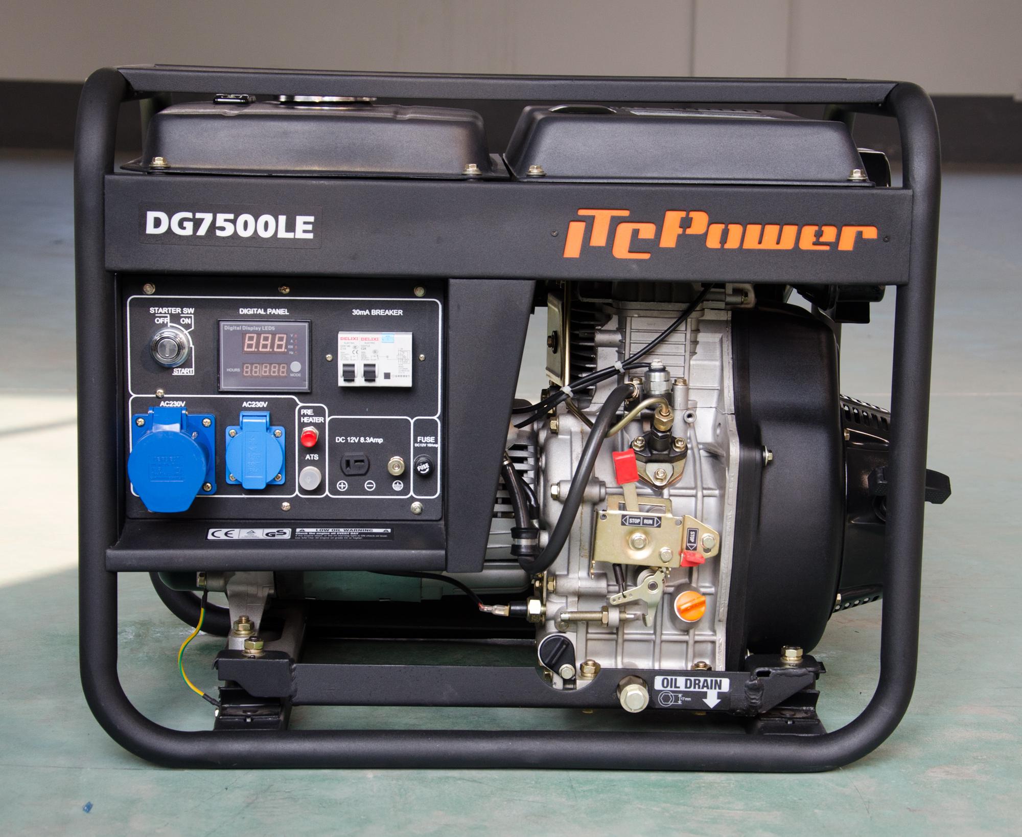 VORVERKAUF!!! ITC POWER 6500 Watt Diesel DG7800LE Stromaggregat