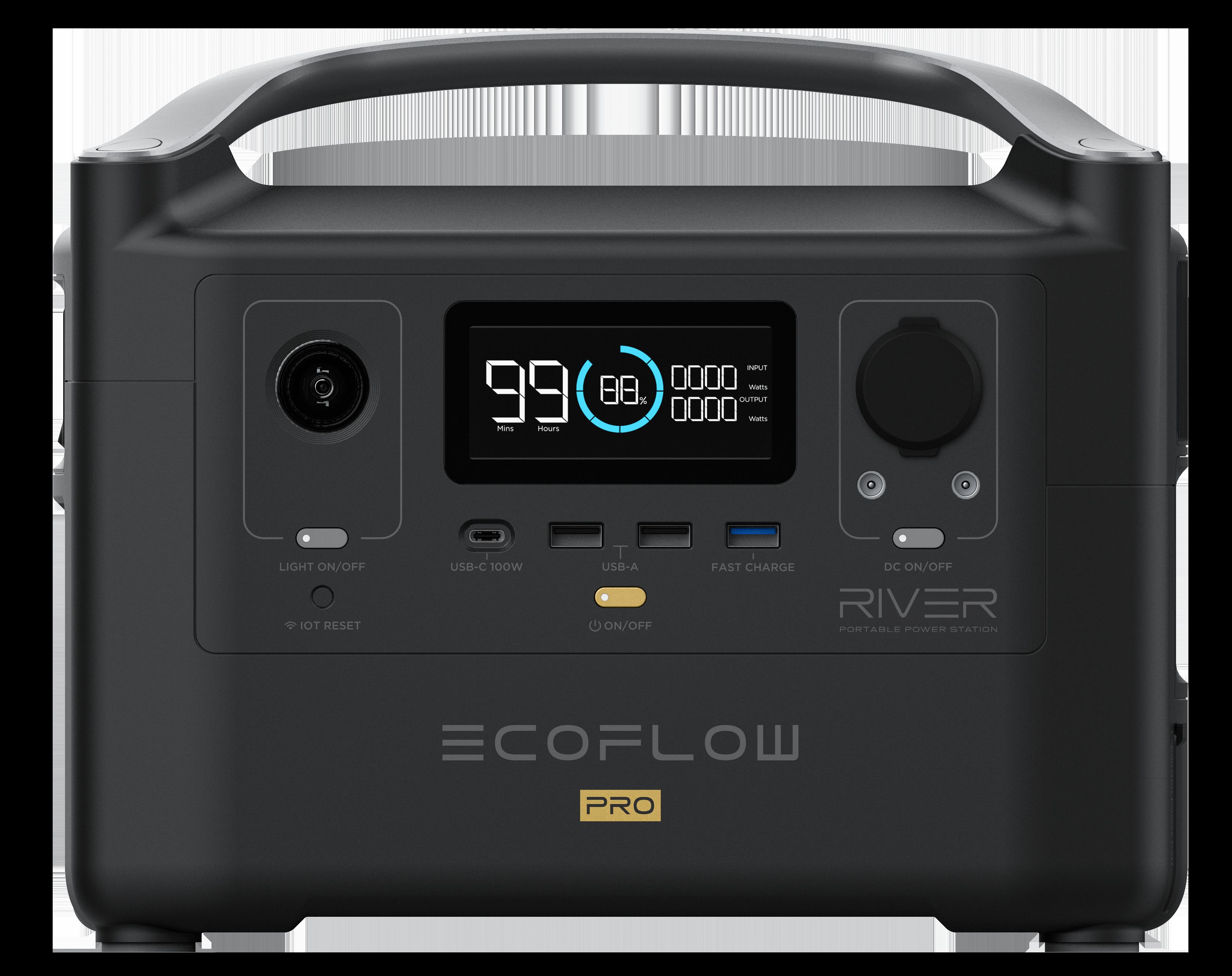 ECOFLOW RIVER 600PRO PORTABLE POWER STATION - EU VERSION