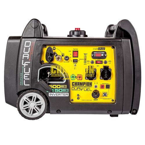 VORVERKAUF!!! Champion Dual Fuel Inverter 3500W Benzin 3150W Gas Stromerzeuger mit E-Start 230V EU